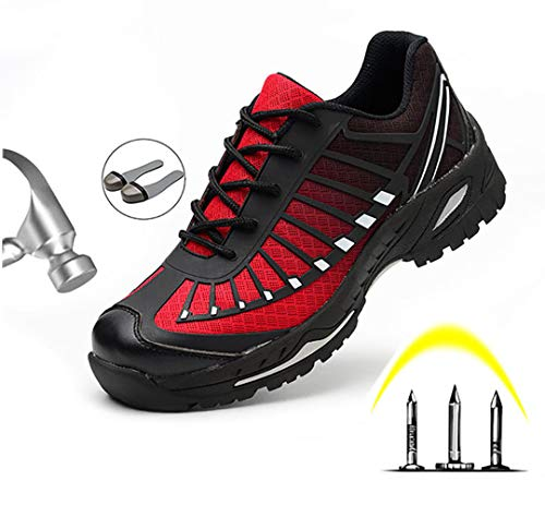 Stalen neus veiligheidsschoenen lichtgewicht heren S3 werkschoenen met stalen neus mesh luchtdoorlatend sneaker anti-smashing sportief hiking schoenen beschermschoenen