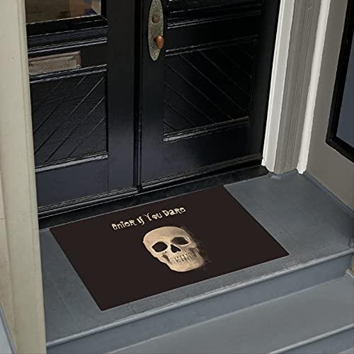 """TIANTURNM Felpudos Entrada casa cráneo Cabeza góticas Guays Negras Beige macabro Felpudo Decoracion Hogar Regalos 24""""x36"""""""