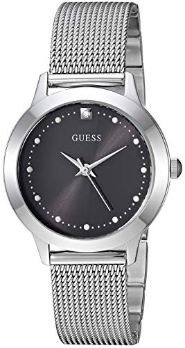 GUESS Women's Quartz Stainless-Steel Strap, Silver, Casual Watch (Model: U1197L1)