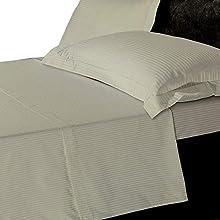 Lino zona 800hilos 100% puro algodón egipcio Natural T800profundo sábana bajera ajustable, calidad de hotel 5estrellas, crema, 2 Oxford Pillow Cases