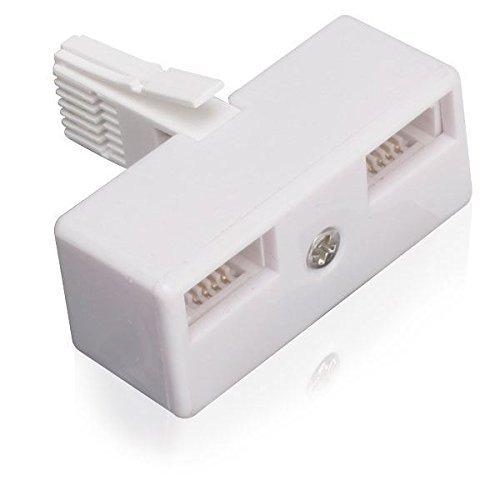 iChoose Limited BT Adattatore Telefonico Splitter/Maschio - 2X Femminile/Doppia Presa di Corrente Telefono Fisso/Bianca/Spina Fisso BT