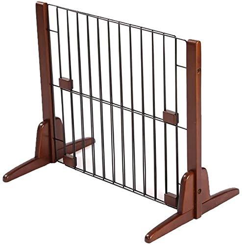 Puerta Para Bebé Puerta Para Mascotas Plegamiento independiente de madera for mascotas Parque infantil Amplio 2-en-1 Escalera y pared del pasillo montado en los pies del bebé Puerta de apoyo incluidos