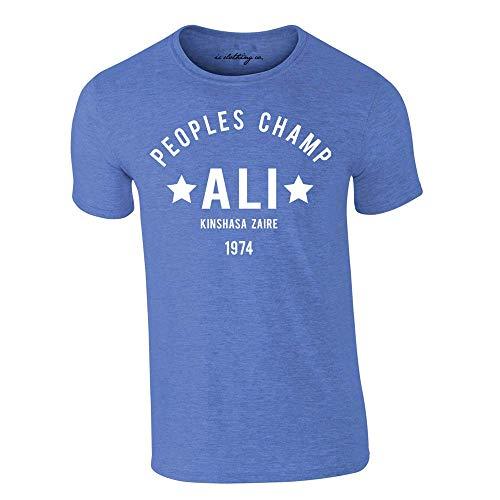 Muhammad Ali The Greatest Rumble in The Jungle Box Premium T-Shirt Heide Königsblau - Blau, M