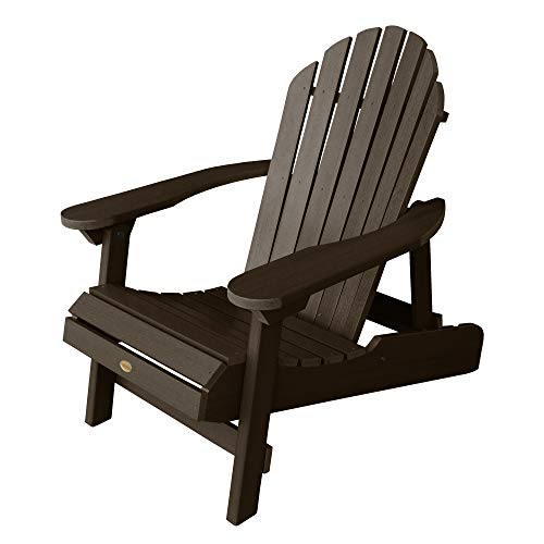 Highwood AD-CHL1-ACE Hamilton Folding and Reclining Adirondack Chair, Adult Size, Weathered Acorn