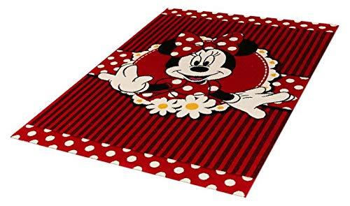 Tapis pour Chambre enfants - Disney Minnie Mouse - taille cm 100 x 150 - Couchage courte 13 mm