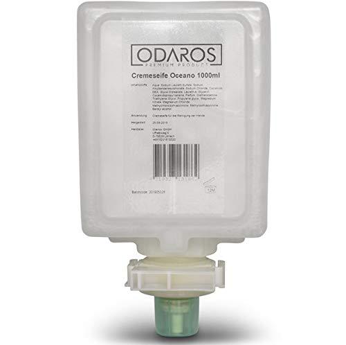 Odaros - Jabón cremoso Oceano rellenable, 9 x 1000 ml para dispensador de jabón Elena