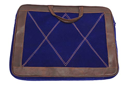 WerKens Leather Laptop Bag Sleeve Cover 17' Inch / 17.3' Inch Handcrafted Velvet/Leather Finish Computer Case Briefcase Compatible with MacBook/Acer/Asus/HP/Toshiba/MSI/Dell - WSL17X1