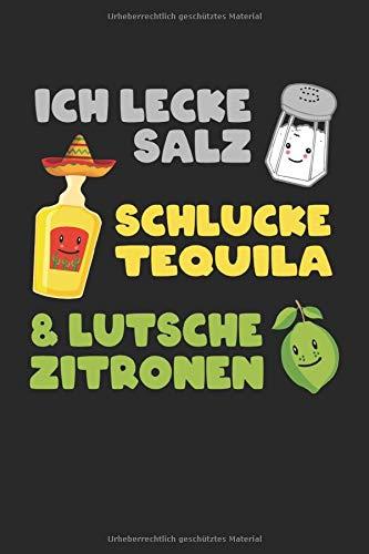 Salz Tequila Zitrone: Notizbuch - Notizheft - Notizblock - Tagebuch - Planer - Kariert - Karierter Notizblock- 6 x 9 Zoll (15.24 x 22.86 cm) - 120 Seiten