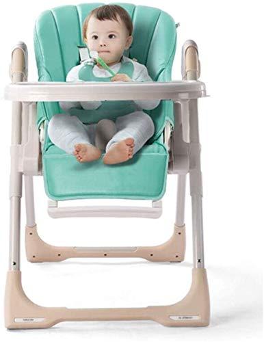 CASTOR Silla Alta Segura Silla Alta para bebés, 6 Meses - 3 años de Edad bebé multifunción Sentado reclinable Plegable portátil Ajustable bebé niñera Silla de Comedor fácil de Montar