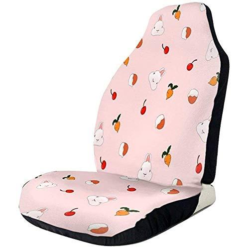 Auto Stoelen Cover Leuke Cartoon Konijn Behang Print Voorstoelen Cover Automotive Seat Protector