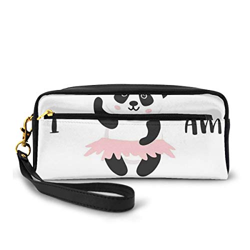 Pencil Case Pen Bag Pouch Stationair, Grappige Ballerina Panda Beer Dansen In Roze Rok Baby Kinderen, Kleine Make-up Bag Coin Purse