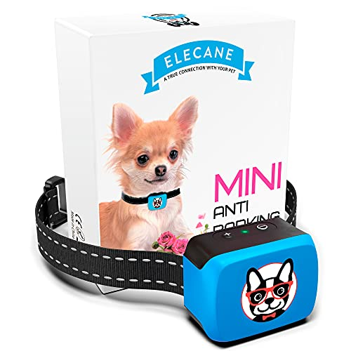 Small Dog Bark Collar Rechargeable - Anti Barking Collar for Small Dogs - Smallest Most Humane Stop Barking Collar - Dog Training No Shock Bark Collar Waterproof - Safe Pet Bark Control Device