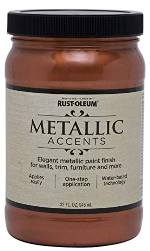 Rust-Oleum 253536 Metallic Accents Paint, Quart, Copper Penny