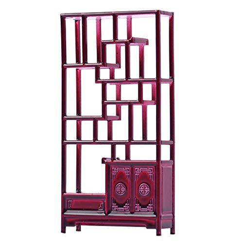 Homyl Antike Chinesische Mini Regal Miniatur Möbel für 1/25 Puppenhaus
