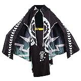 ZIXUN Zelda Twilight Princess Cosplay Midna Costume Full Set Women's Deluxe Kimono Dress with Cloak XL