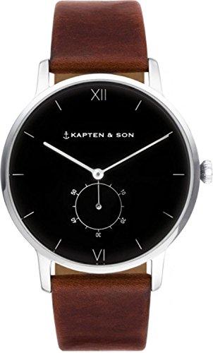 Kapten & Son Damen-Uhren Analog Quarz One Size Leder 87555101