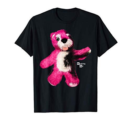 Breaking Bad Burnt Pink Teddy Bear Portrait Logo Maglietta