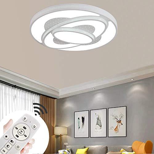 LED Deckenlampe 60W Dimmbar Weiß Deckenleuchte Wohnzimmer Lampe Modern Deckenleuchten Kueche Badezimmer Flur Schlafzimmer
