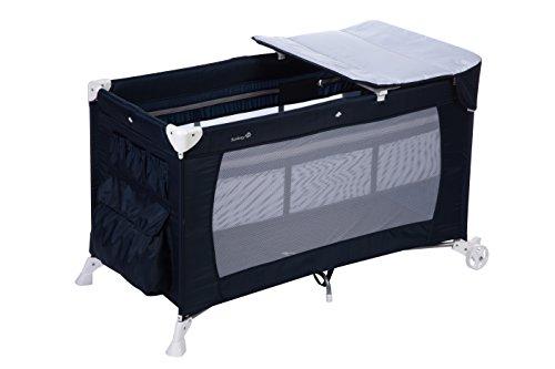 Safety 1st Full Dreams Cuna de viaje plegable con cuna bebé y cambiador, con ruedas y bolsa para un fácil transporte, Tamano de colchon estandar (60x120cm), color Blue