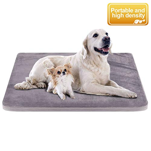 "JoicyCo Dog Bed Large Pet Beds Dog Mats Crate Mat Dog Beds for Large Dogs Foam Cushion Anti-Slip with Washable Cover 47.24"" Beds launched Newly pets"