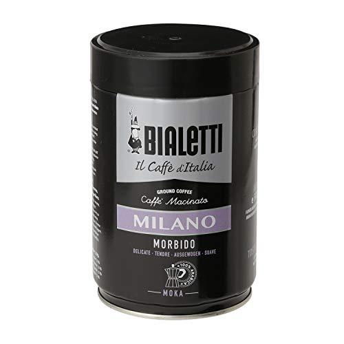 Bialetti Caffè Macinato per Moka Milano, Gusto Delicato - 1 x 250 gr