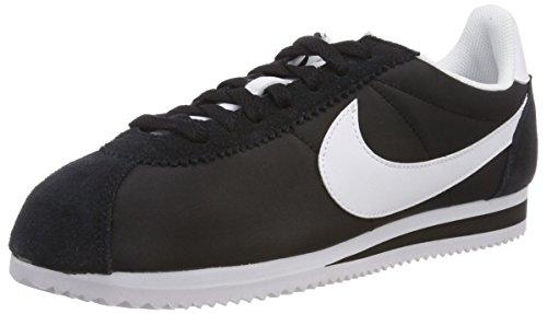 Nike Damen Classic Cortez Nylon Laufschuhe, Schwarz (Black/White 011), 40 EU