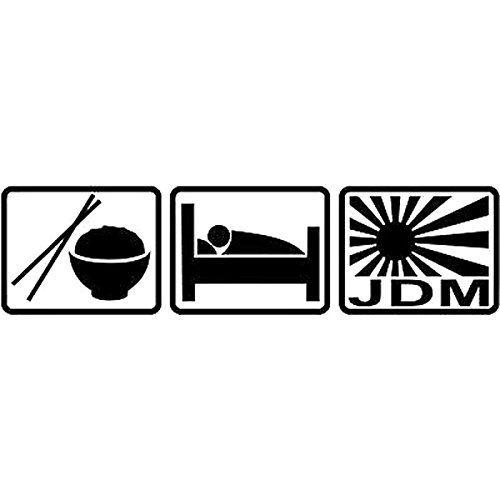 Gadgets wrap 16.3cm*4.1cm eat Sleep JDM Decal Sticker Window Sticker and Accessories Cartoon