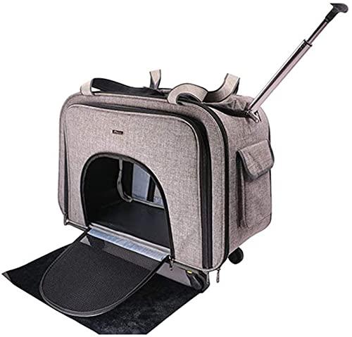 FGDJ Haustierwagen, Haustierauto-Paket, tragbarer atmungsaktiver Pet-Rucksack, Anti-Grav-atmungsaktive Mesh-Katzen-Tasche, Out-Reisen Wandern Camping Pet Bag, kann 15 kg halten