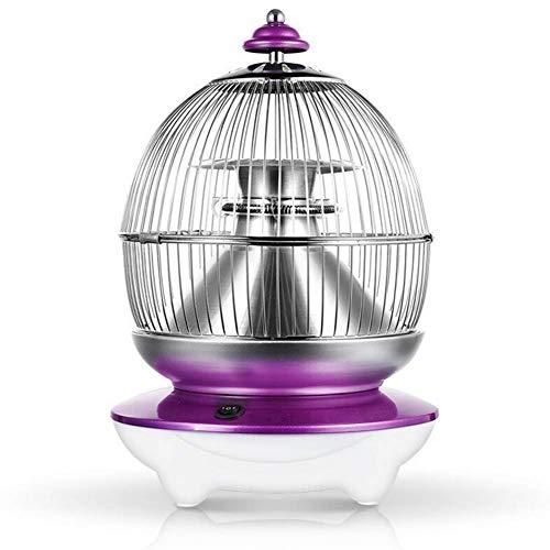 YQ Kleine Solar Heizlüfter Heim Vogelkäfig Elektrische Heizgeräte Tragbar 2 Wärmeeinstellungen, Ideal Für Kleine Räume, Schlafzimmer, 1000 W,Purple