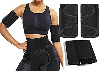 PHIONXEI Arm Trimmers for Weight Loss Plus Size for Women and Men,Sauna Sweat Arm Shaper Bands for Flabby Arms,Arm Slimming Shaper Wrap 2 Pack with Phone Pocket  XL