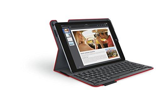 『LOGICOOL キーボード⼀体型保護ケース for iPad Air 2 レッド iK1051RD』の5枚目の画像
