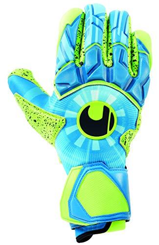 uhlsport Unisex– Erwachsene Control SUPERGRIP Finger Surround Torwarthandschuhe, Fußballhandschuhe, Radar blau/Fluo gelb/schw, 10.5