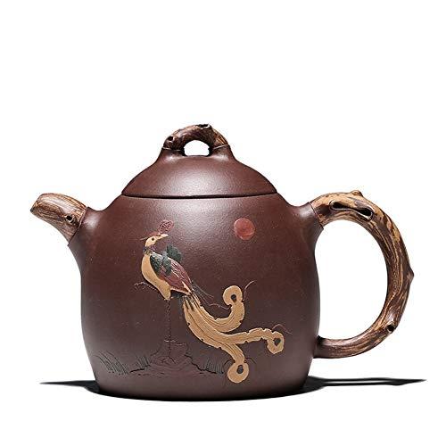 L.L.QYL Tetera Fina Hecha a Mano Original de la Tetera de Barro Mineral púrpura Tetera de Yixing té del hogar del Regalo de la Tetera de diseño Original (Color : Purple mud)