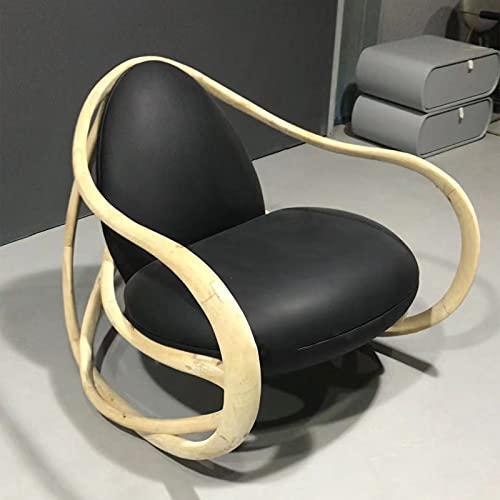 Ledersessel, Retro Chair Lounge Chair Mit Stabilen Holzbeinen, Sofastuhl Wohnzimmer Leather Boss Armchair Für Schlafzimmer Living Room Lounge Office,B