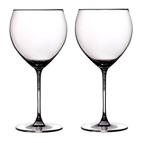 Ella Sabatini Spirale Copa Gin & Tonic Glas 700ml Set von 2 Set of 2 Gold Spirale Glasses