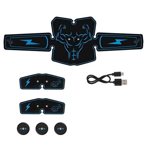 Shapewear Electroestimulador Muscular Abdominales, Masajeador Eléctrico Cinturón con USB,Estimulación Abdomen/Brazo/Piernas/Glúteos 6 Modos de Simulación,9 Niveles Diferentes Estimulador