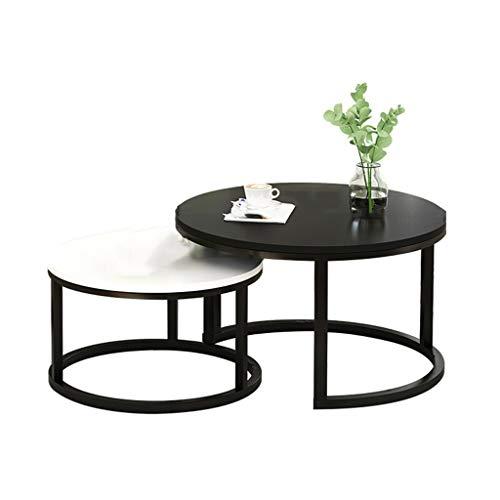 liudan Couchtisch Wohnzimmertisch Stilvolle und kreative couchtisch einfache Sofa Tisch Wohnzimmer runde Kombination couchtisch Sofatisch/Kaffeetisch Couchtisch