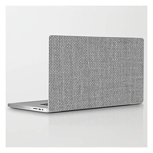 Natural Woven Silver Grey Burlap Sack Cloth by Podartist on Laptop & Tablet Skin - 15' MacBook Pro