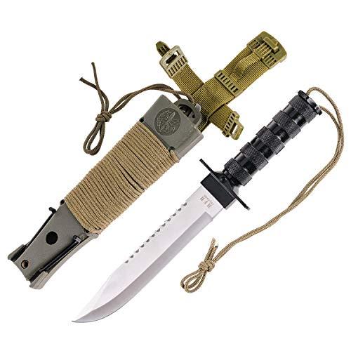 Jungle Knife No.1 - Combat King - Outdoor Bowie Jagd Survival-Messer + Mega Überlebenspaket