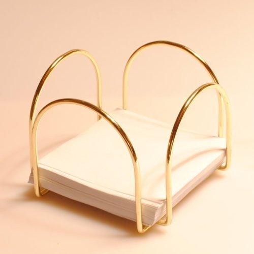 Life-Style GmbH Notizzettel-Box in Goldener Farbe B-Ware