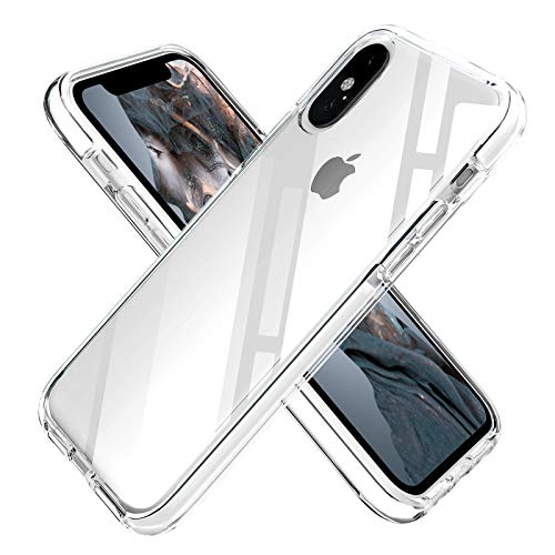 iPhone Xs Max Case Clear Anti-Scratch Anti-Slippery Transparent Shockproof Bumper Protective Case Cover Compatible with iPhone Xs Max 6.5in-2018 (White)