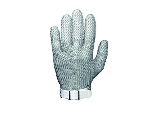 Niroflex Stechschutzhandschuhe ohne Stulpe Stahlnetz Kletthandschuh XS S M L XL, GRÖSSE:S