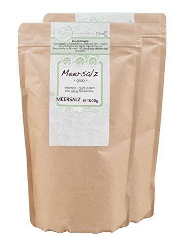 direct&friendly grobes Meersalz perfekt geeignet für die Salzmühle (2 x 1 kg)