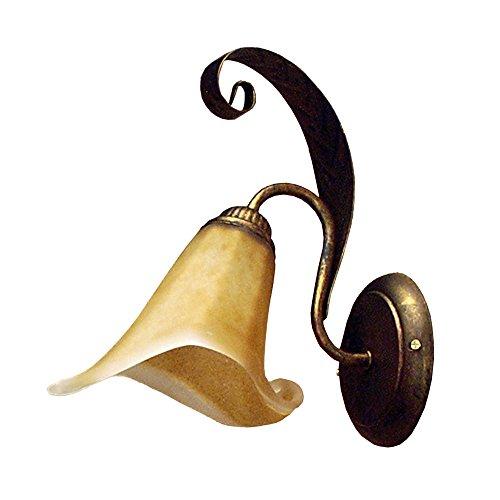 ONLI 4230/Ap - Aplique de metal marrón cepillado dorado y cristal ámbar