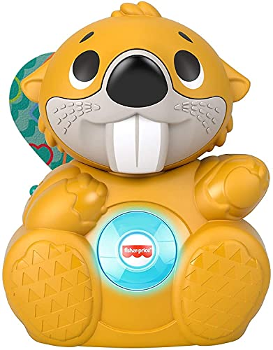 Fisher-Price Linkimals Boppin' Beaver, Light-up Musical Activity Toy for Baby