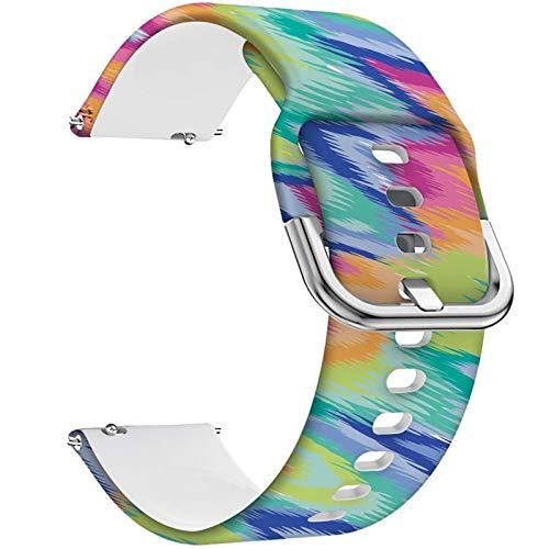 Ekezon Correa de Reloj 20mm Compatible para Samsung Galaxy Watch Active 2 40mm 44mm/Galaxy Watch 3 41mm/Galaxy Watch 42mm/Gear Sport/Gear S2 Classic Pulseras de Silicona Banda (ColorfulCamo, 20mm)