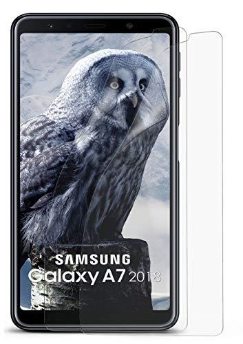 MoEx® Matte Anti Reflex Bildschirmschutzfolie passend für Samsung Galaxy A7 (2018) | Gegen Reflexionen und Fett-Finger - Entspiegelt