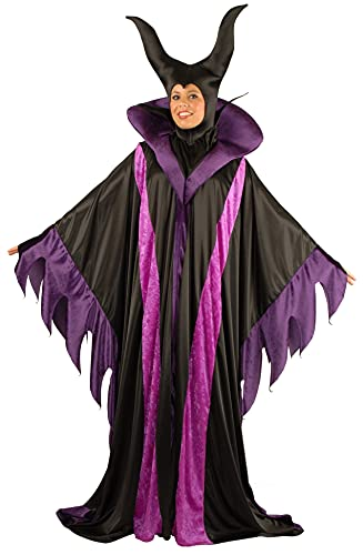 Charades Women's Plus Size Magnificent Witch, 3X Purple