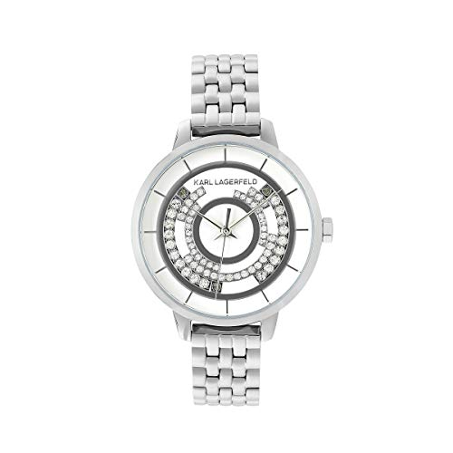 KARL LAGERFELD Women's S/S Concentric Crystal Bracelet Damenuhr, 33mm, Quarz - 5552754