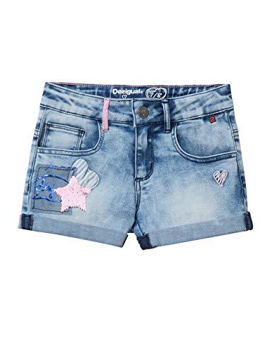Desigual Mädchen Girl Trousers (Denim_MAESTRE) Shorts, Blau (Jeans 5006), 128 (Herstellergröße: 7/8)